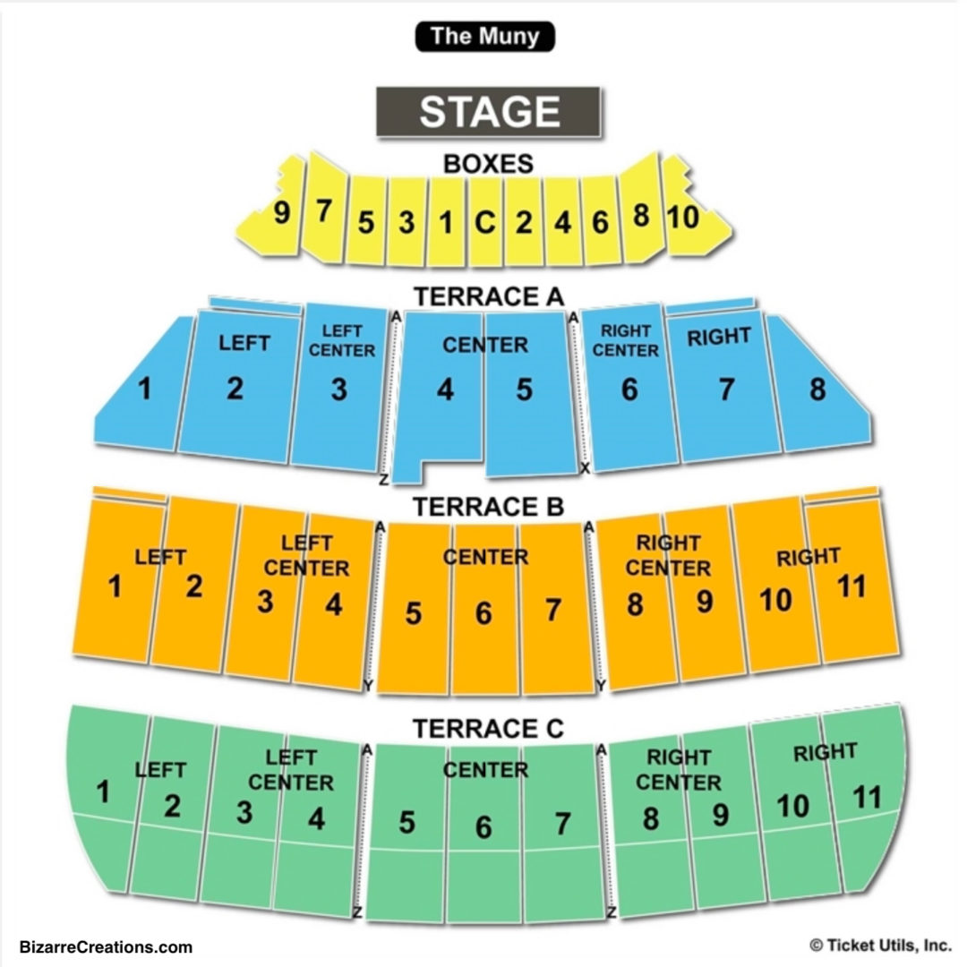 The Muny Seating Chart Seating Charts Tickets