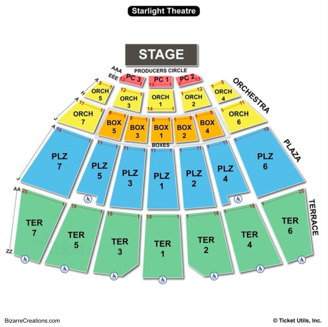 Starlight Theatre Seating Map Brokeasshome Com