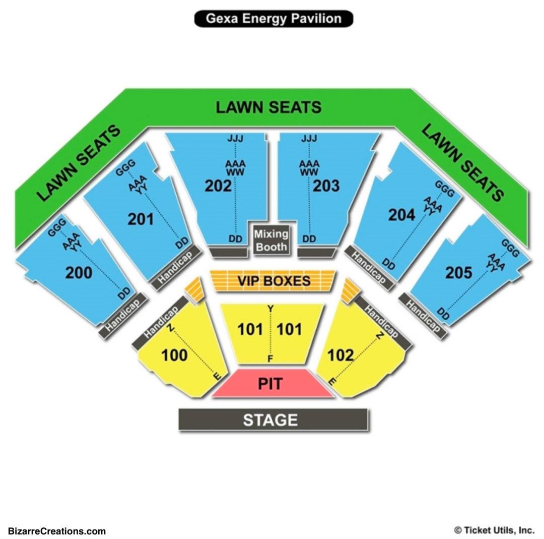 Starplex Pavilion Seating Chart