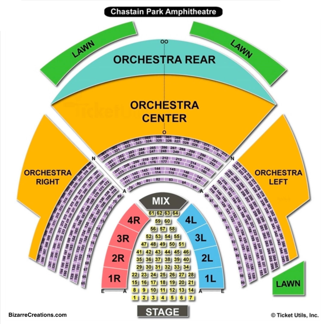 State Bank Amphitheatre At Chastain Park Table Setup Seating Chart