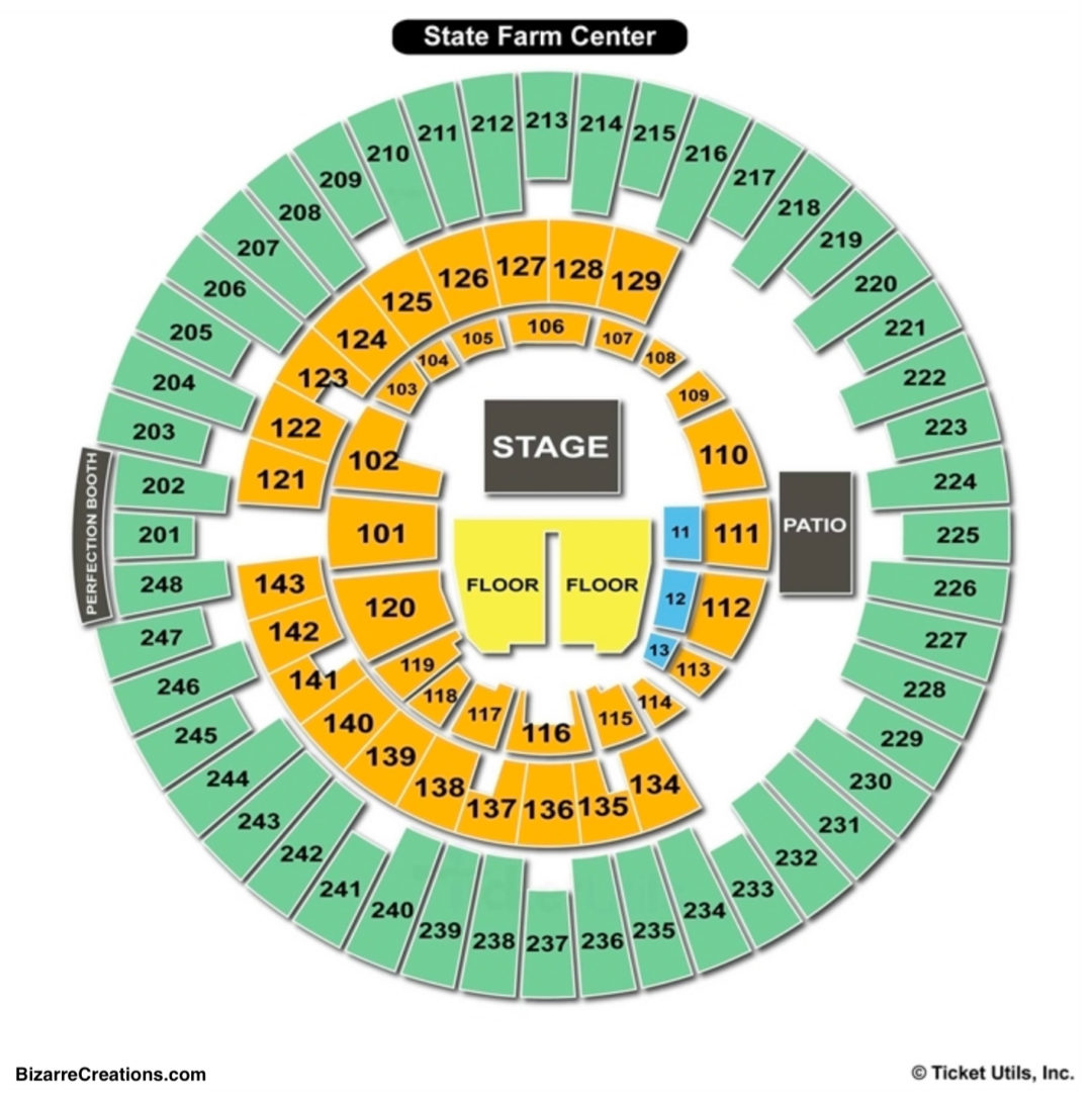 State farm center seating chart seating charts tickets