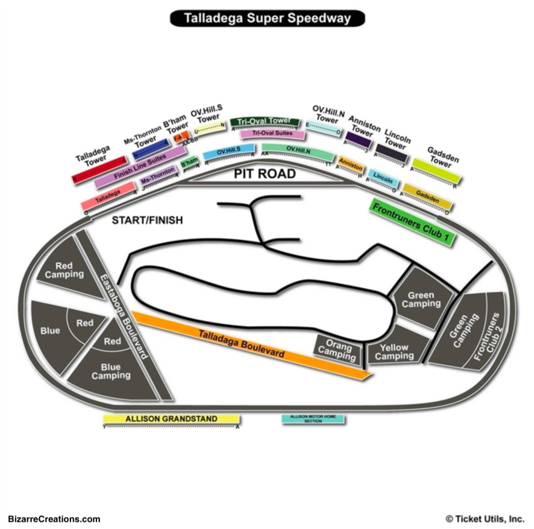 Talladega Superspeedway Seating Chart Seating Charts Tickets