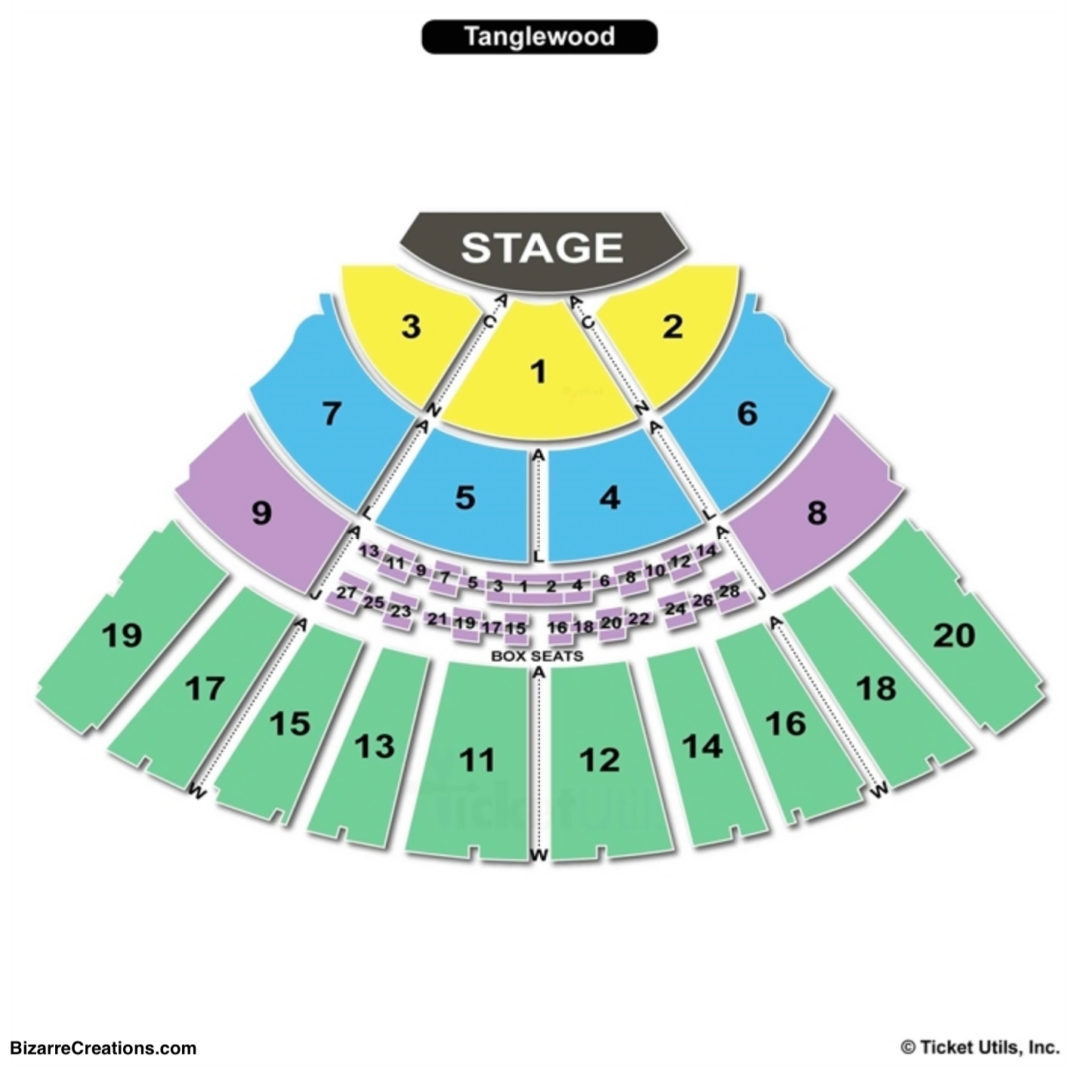 Tanglewood seating chart seating charts tickets
