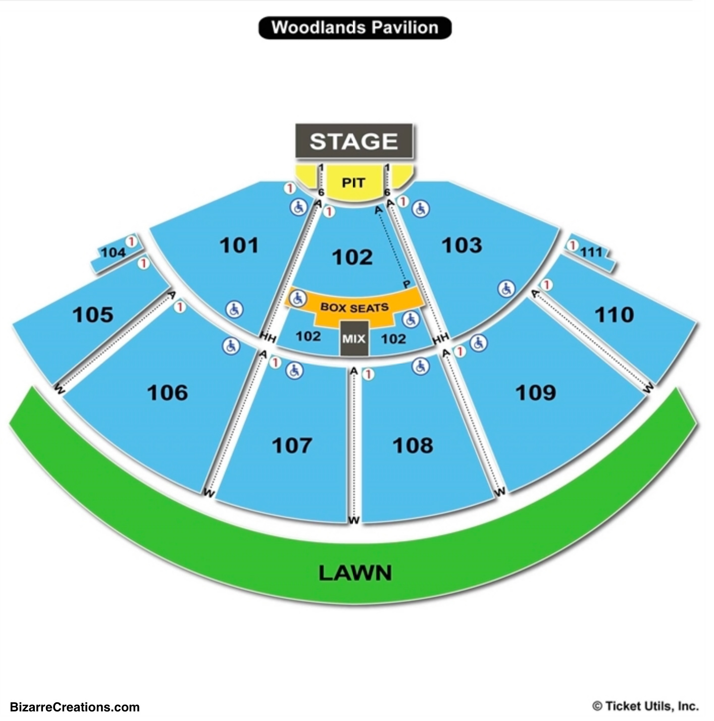 The Cynthia Woods Mitchell Pavilion Seating Chart Seating Charts