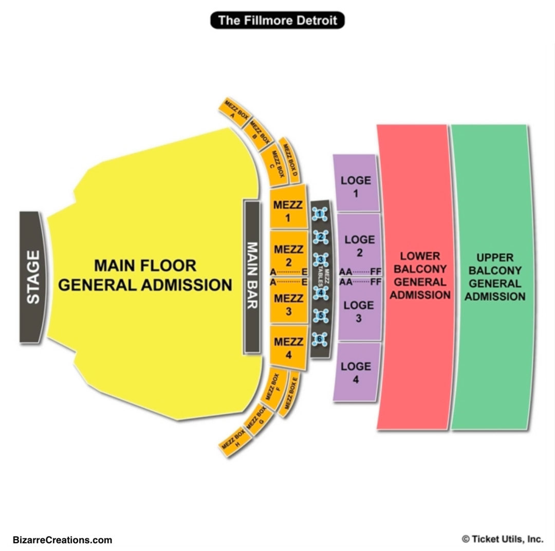 The fillmore detroit seating chart seating charts tickets