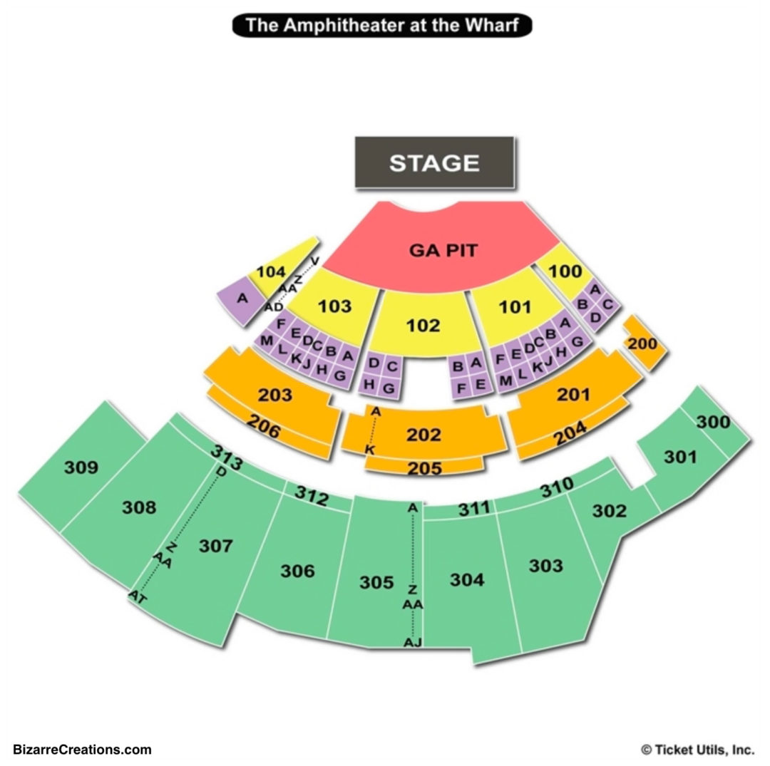 The Wharf Amphitheatre Seating Chart Seating Charts Tickets