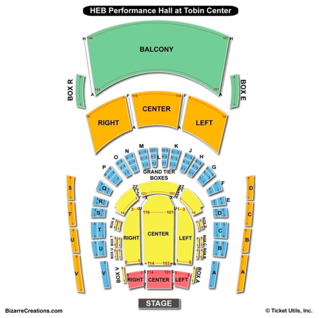 Heb Texas Backyard: Tobin Center For The Performing Arts Seating Chart