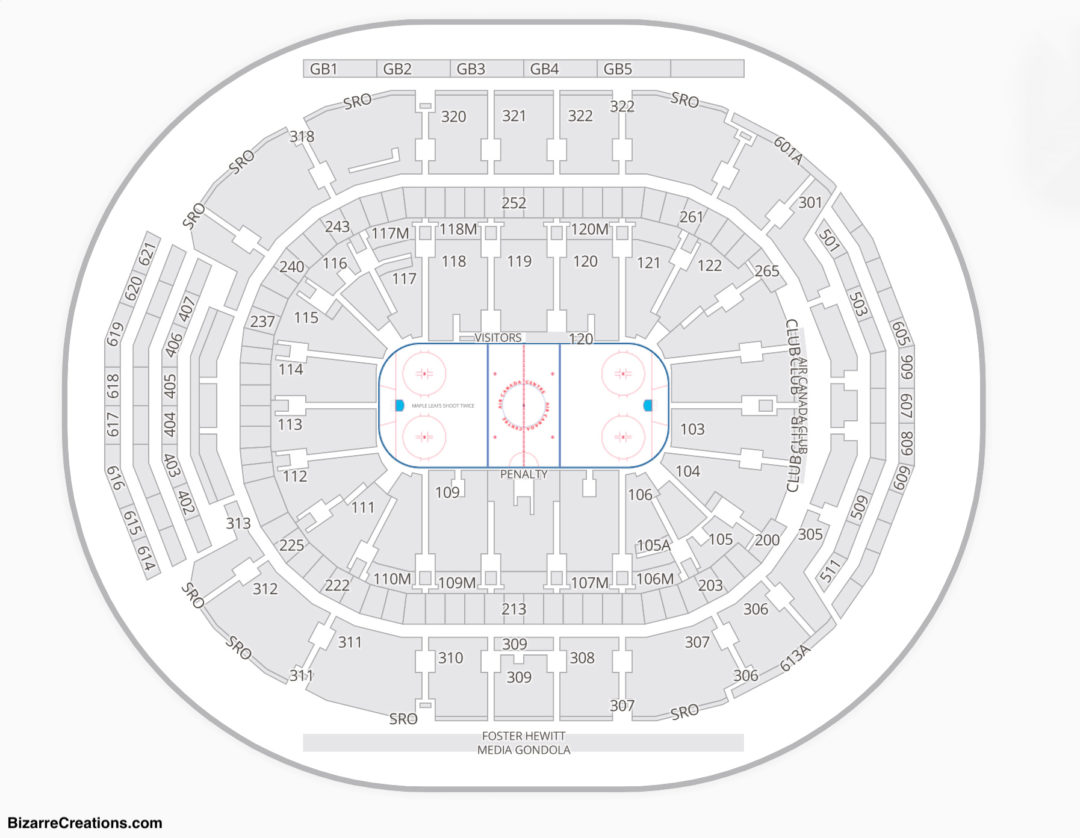 Scotiabank Arena Seating Chart Seating Charts Tickets