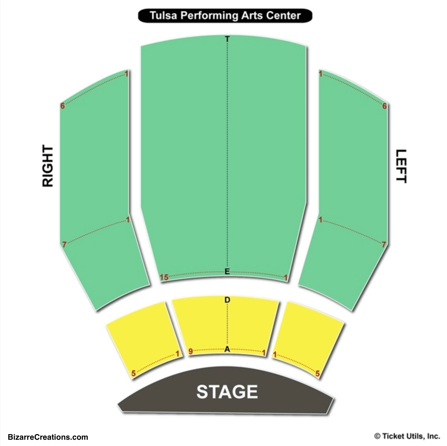 Tulsa Performing Arts Center Seating Chart Broadway Tickets National