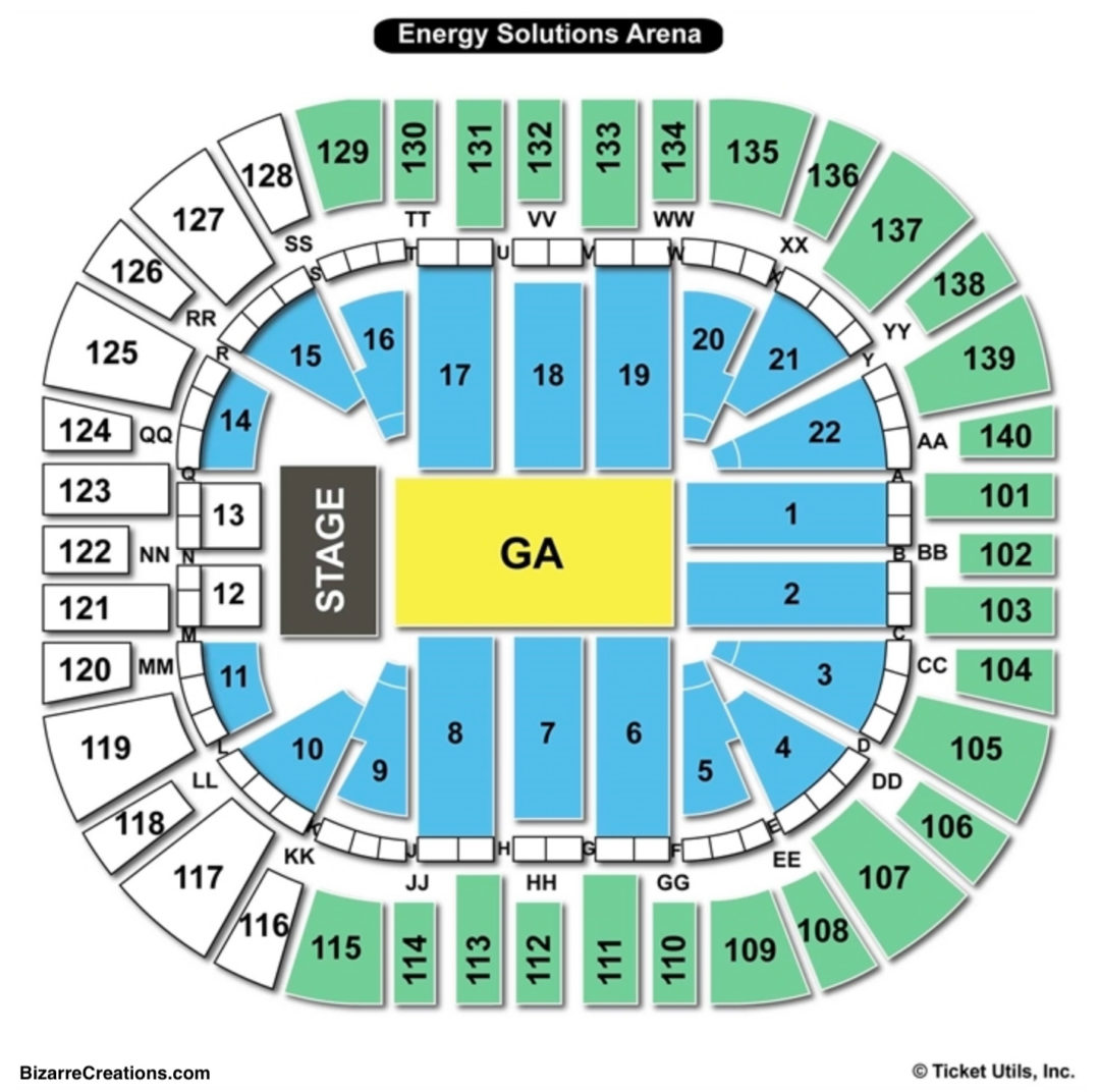 Vivint Smart Home Arena Concert Seating Chart