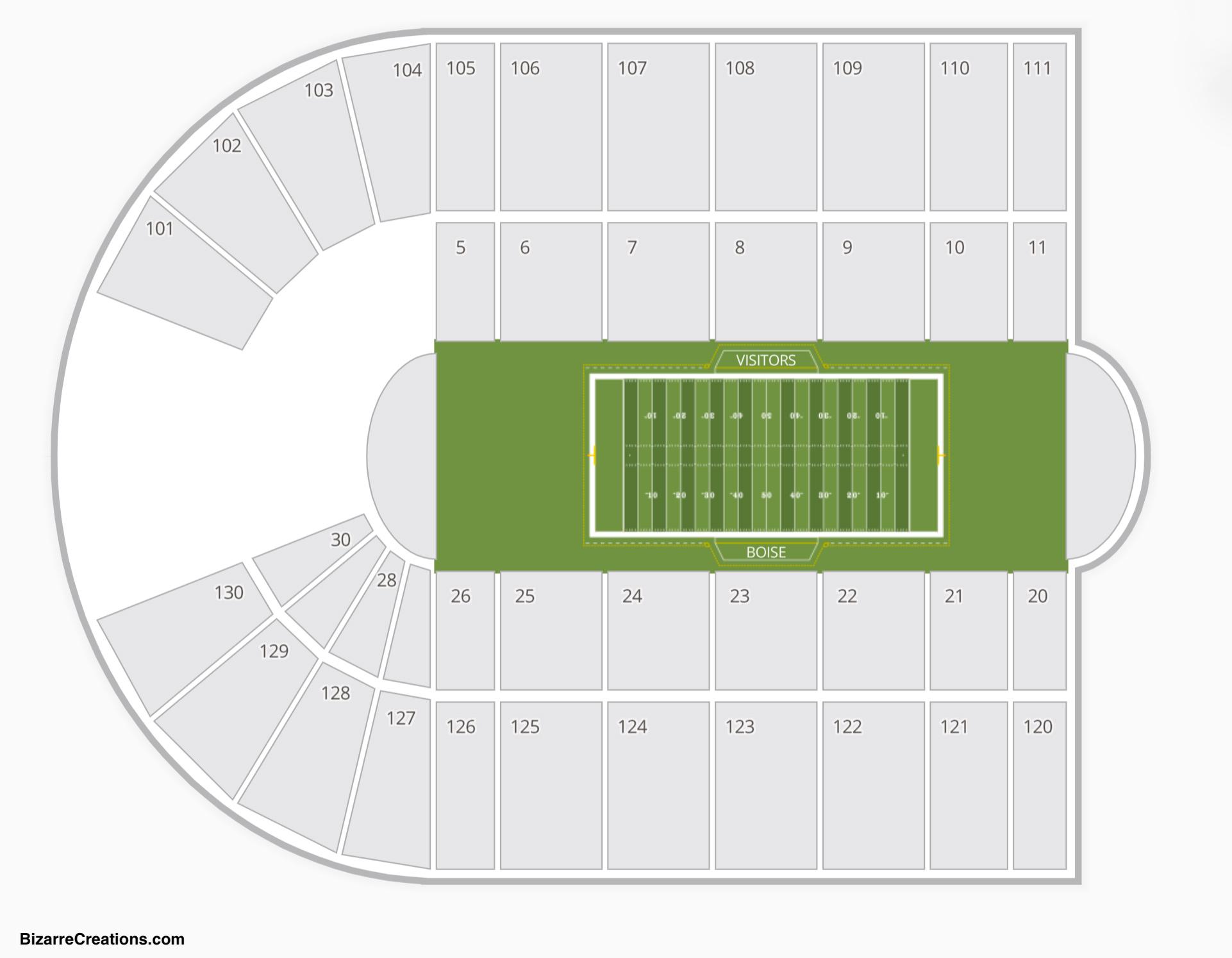 Albertsons Stadium Seating Chart | Seating Charts & Tickets