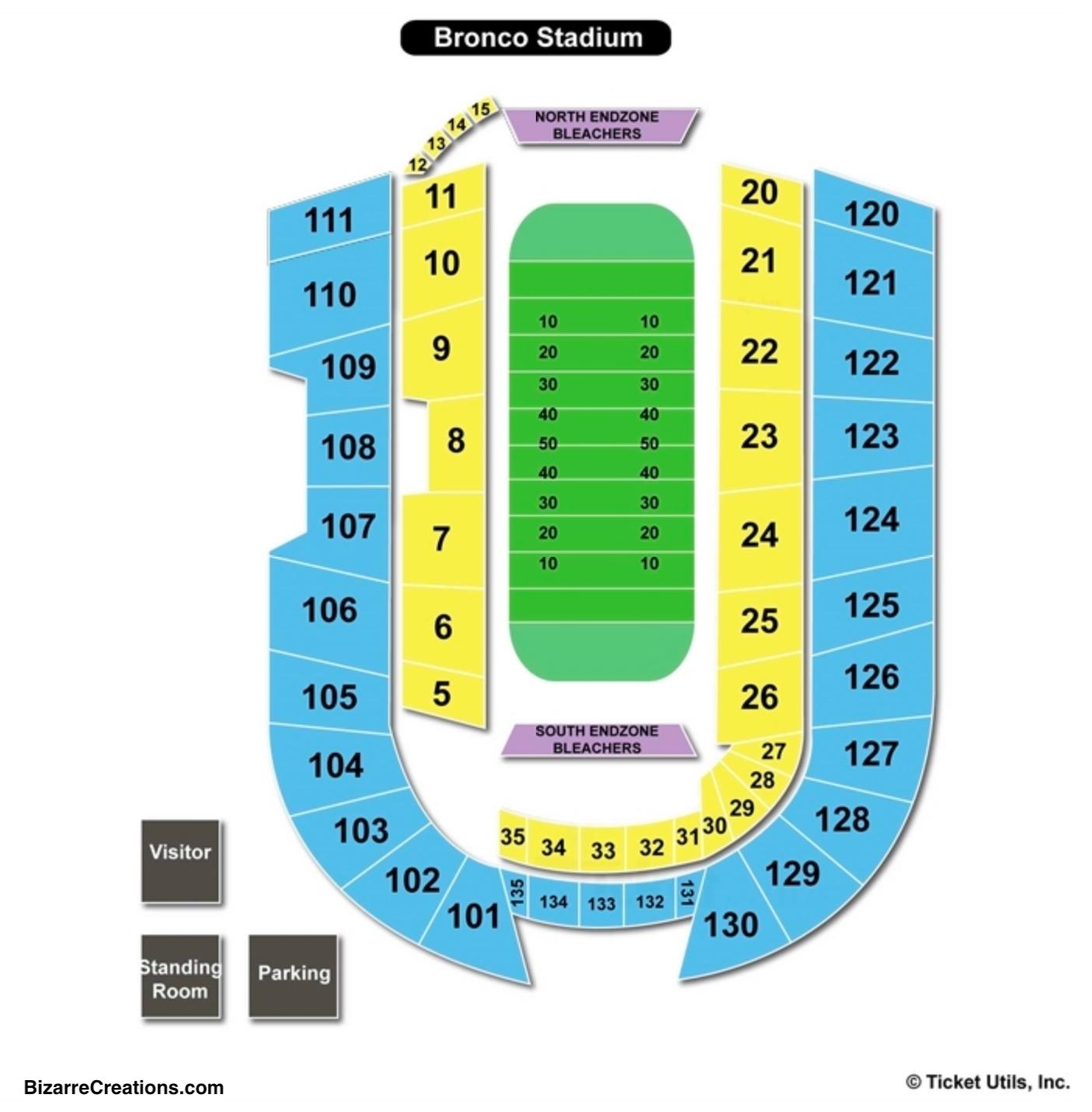 Albertsons Stadium Seating Chart