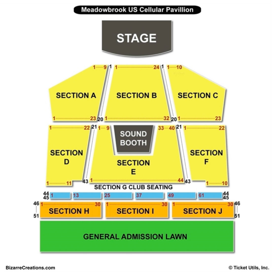 Bank Of New Hampshire Pavilion Seating Chart