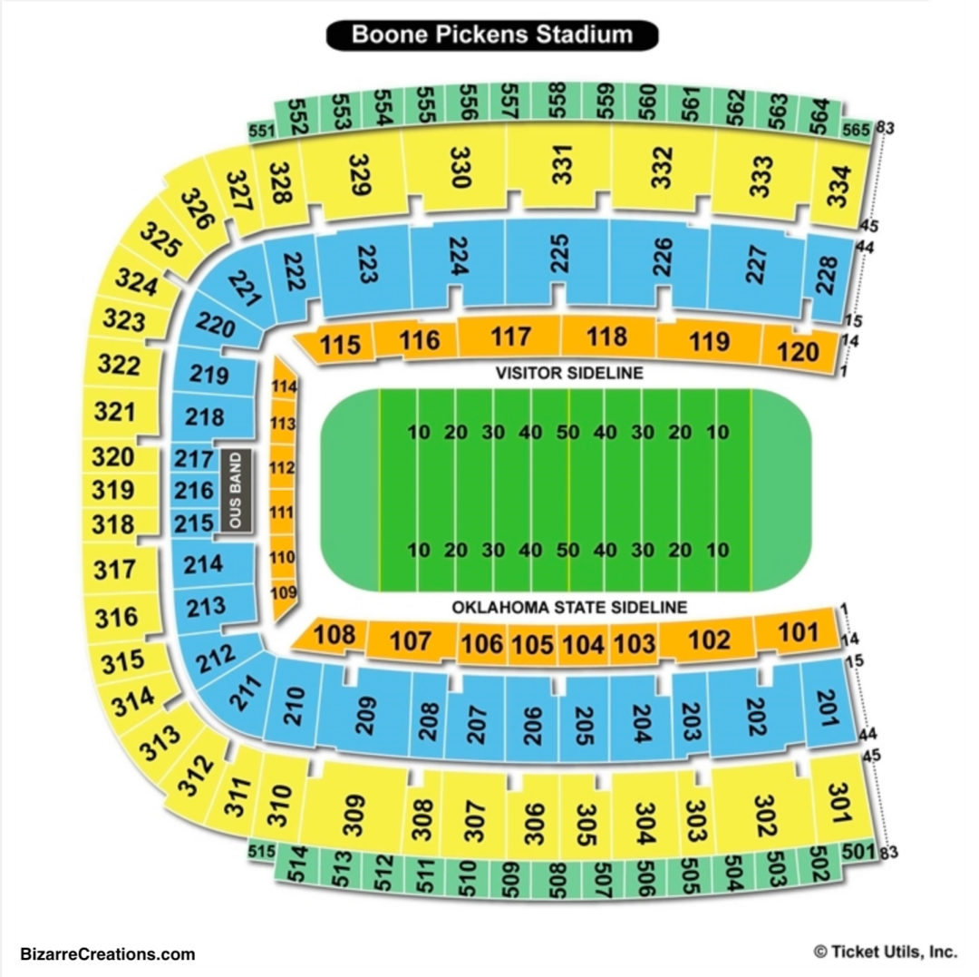 Boone Pickens Stadium At Lewis Field Seating Chart