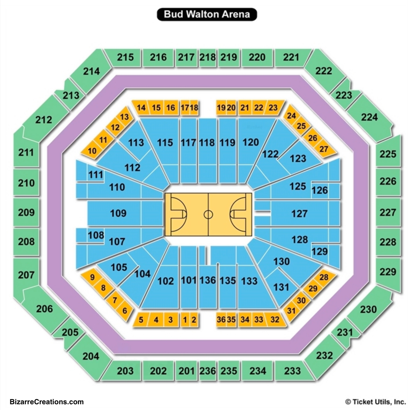 Bud Walton Arena Seating Chart Seating Charts Tickets