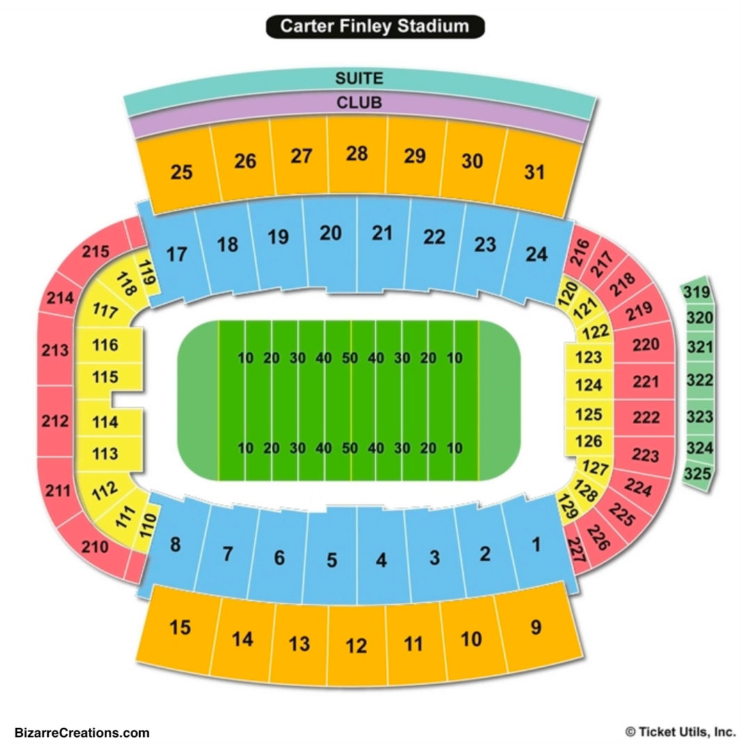 Carter Finley Stadium Seating Chart Football
