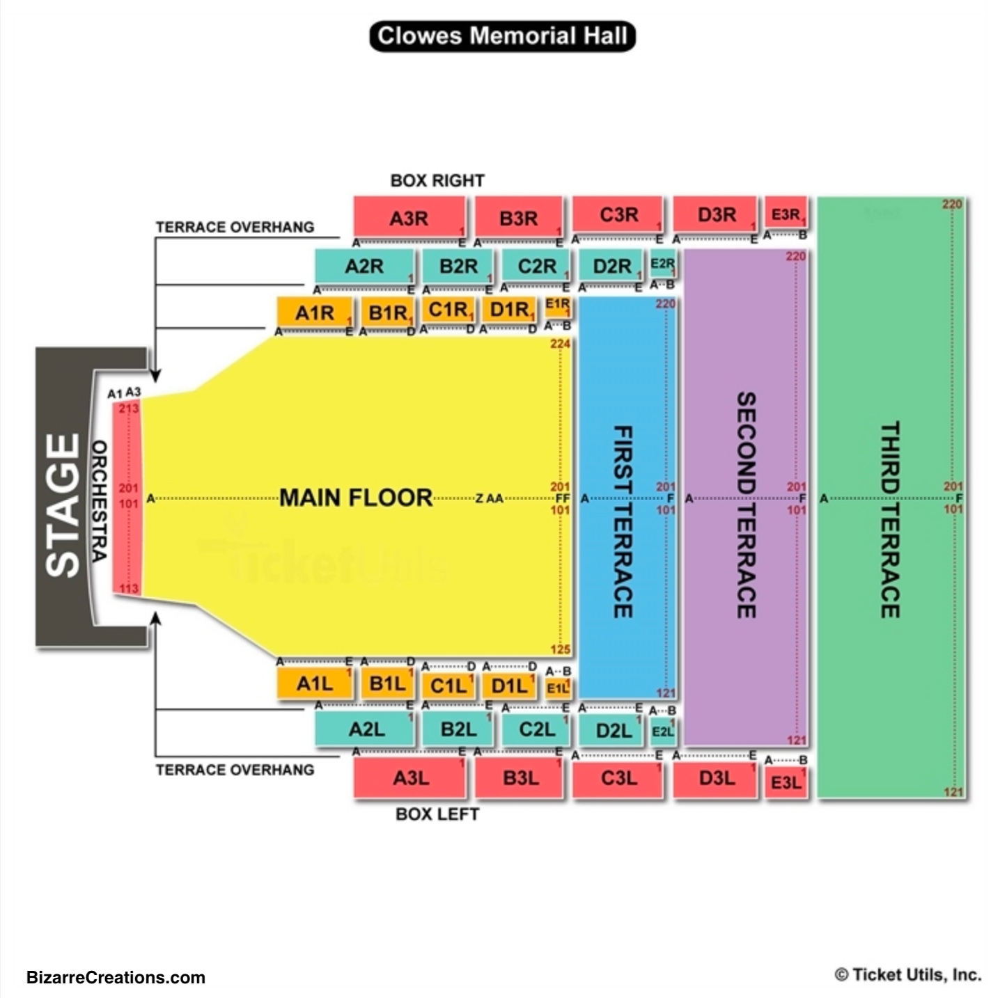 Clowes memorial hall seating chart seating charts tickets