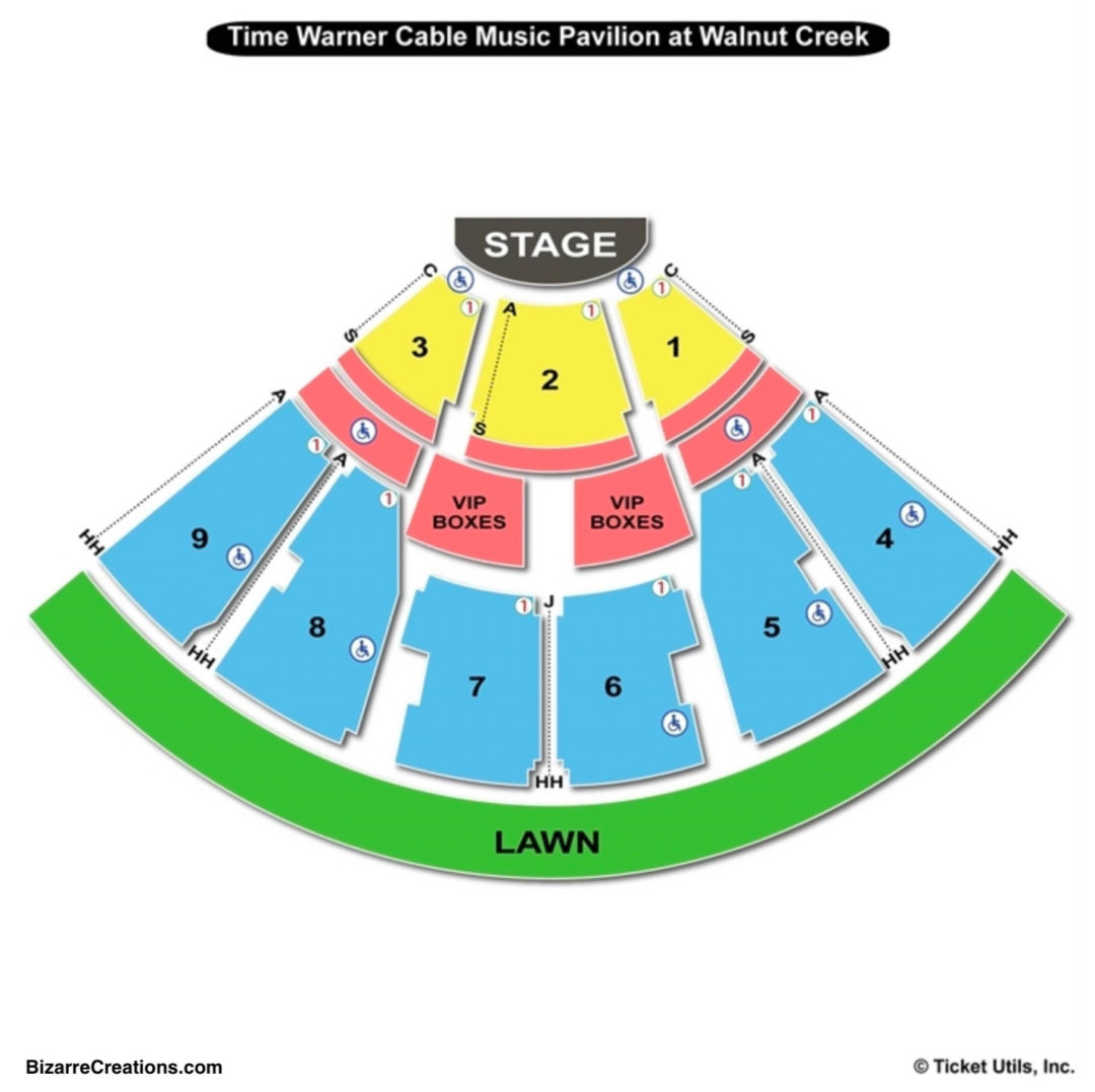Walnut Creek Amphitheatre Seating Chart And Tickets Formerly Time Credit To Http Www Teamonetickets Map