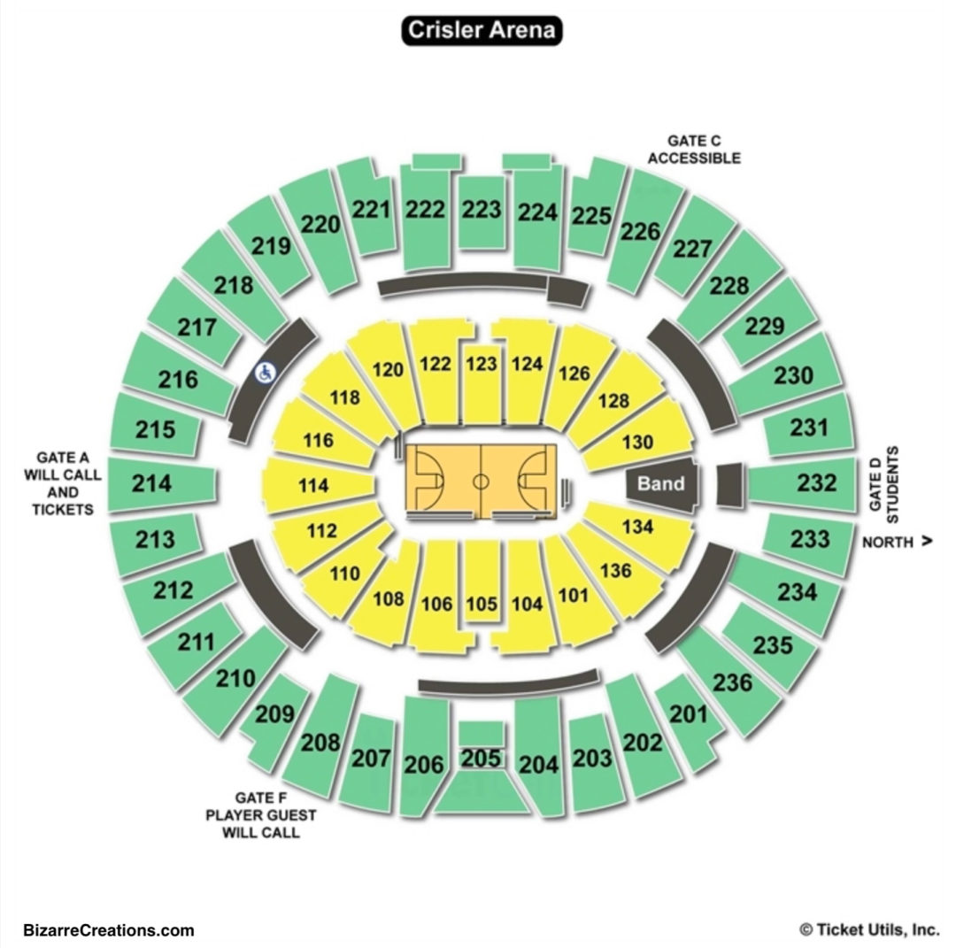 Crisler Center Seating Chart Seating Charts Tickets