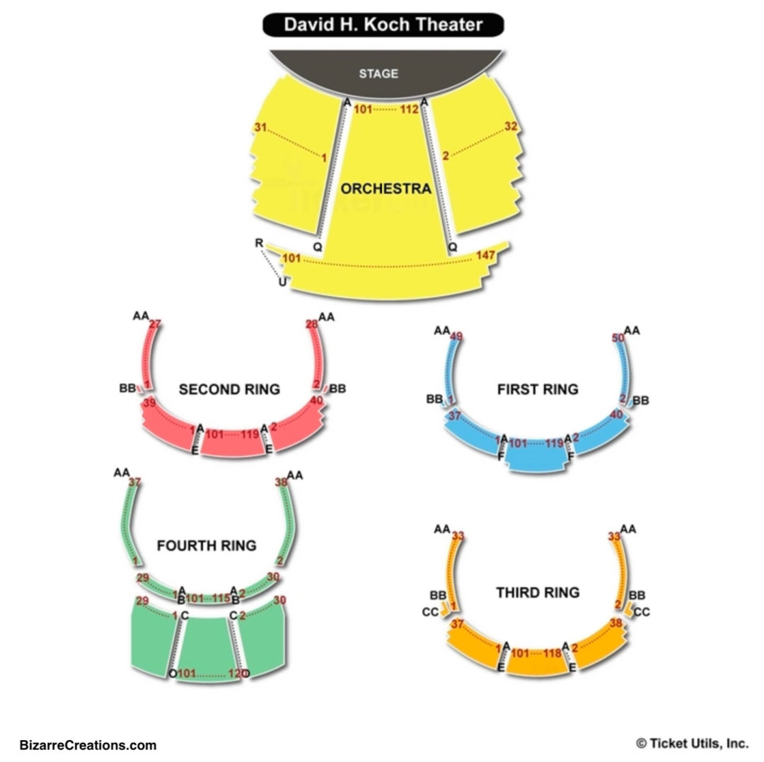 David H Koch Theater Seating Chart Concert