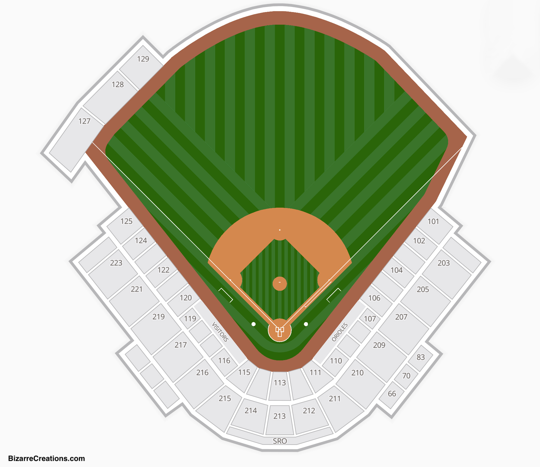 Ed Smith Stadium Seating Chart Baseball