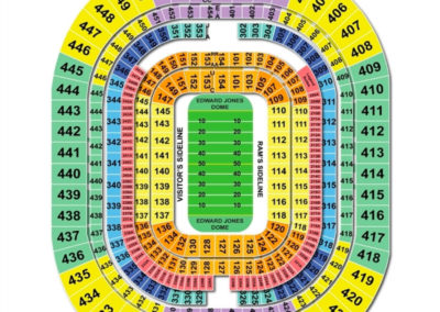 The Dome at America's Center Seating Chart | Seating ...