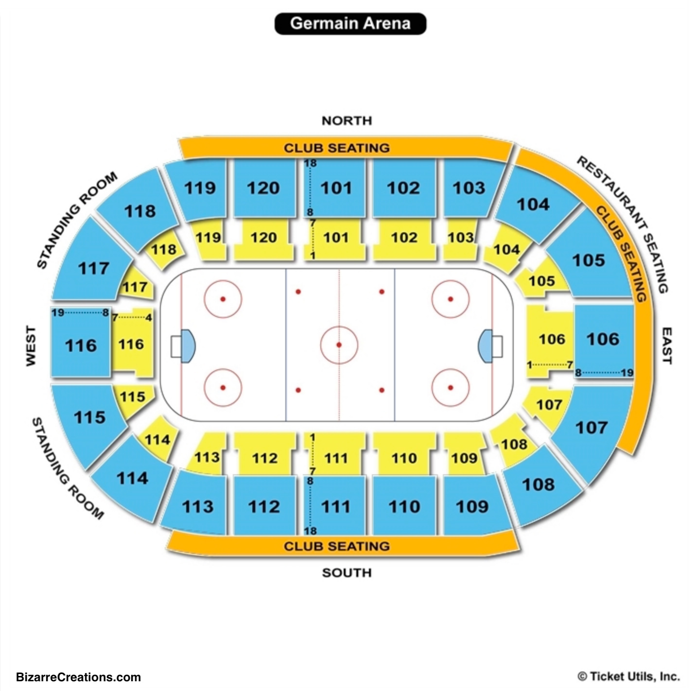 Germain Arena Hockey Seating Chart