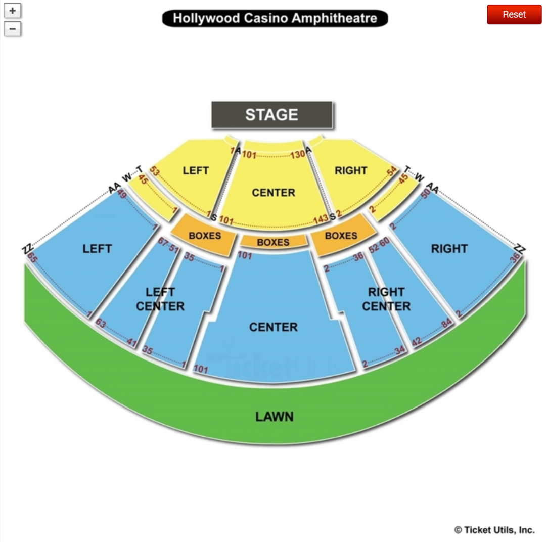 Hollywood Casino Amphitheatre Seating Chart Maryland