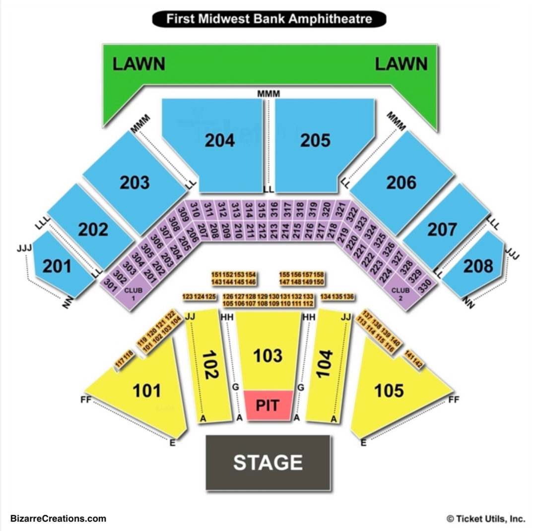 Hollywood Casino Amphitheatre Seating Chart Tinley Park
