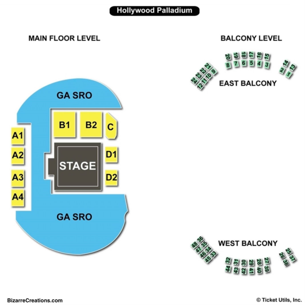 Hollywood palladium seating chart seating charts tickets