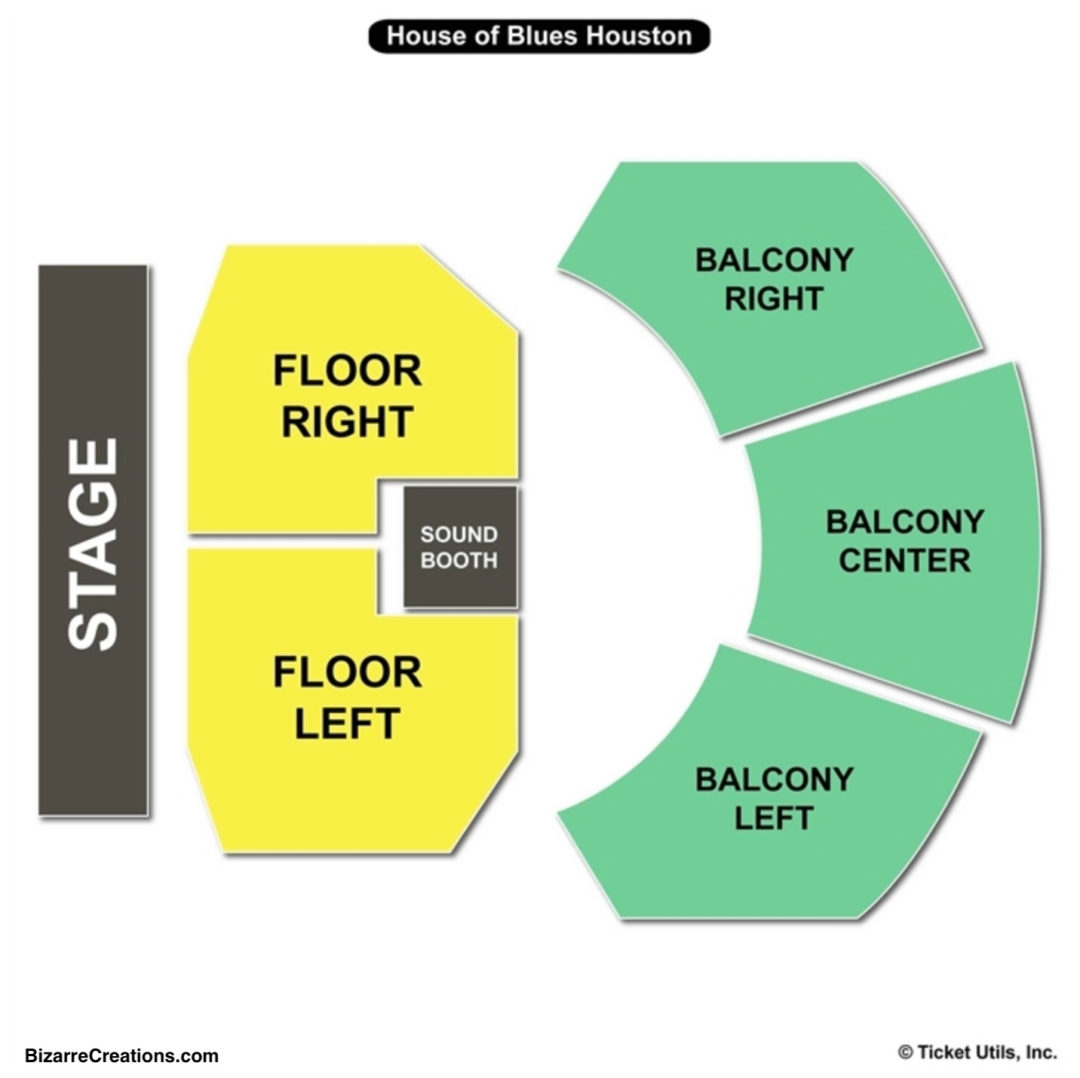House Of Blues Houston Seating Chart