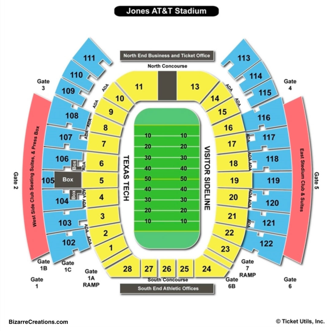 Jones At T Stadium Seating Chart Football
