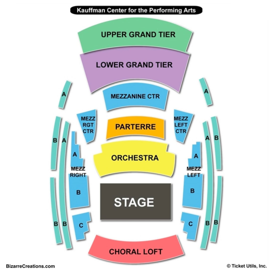 Kauffman Center Seating Chart Seating Charts Tickets