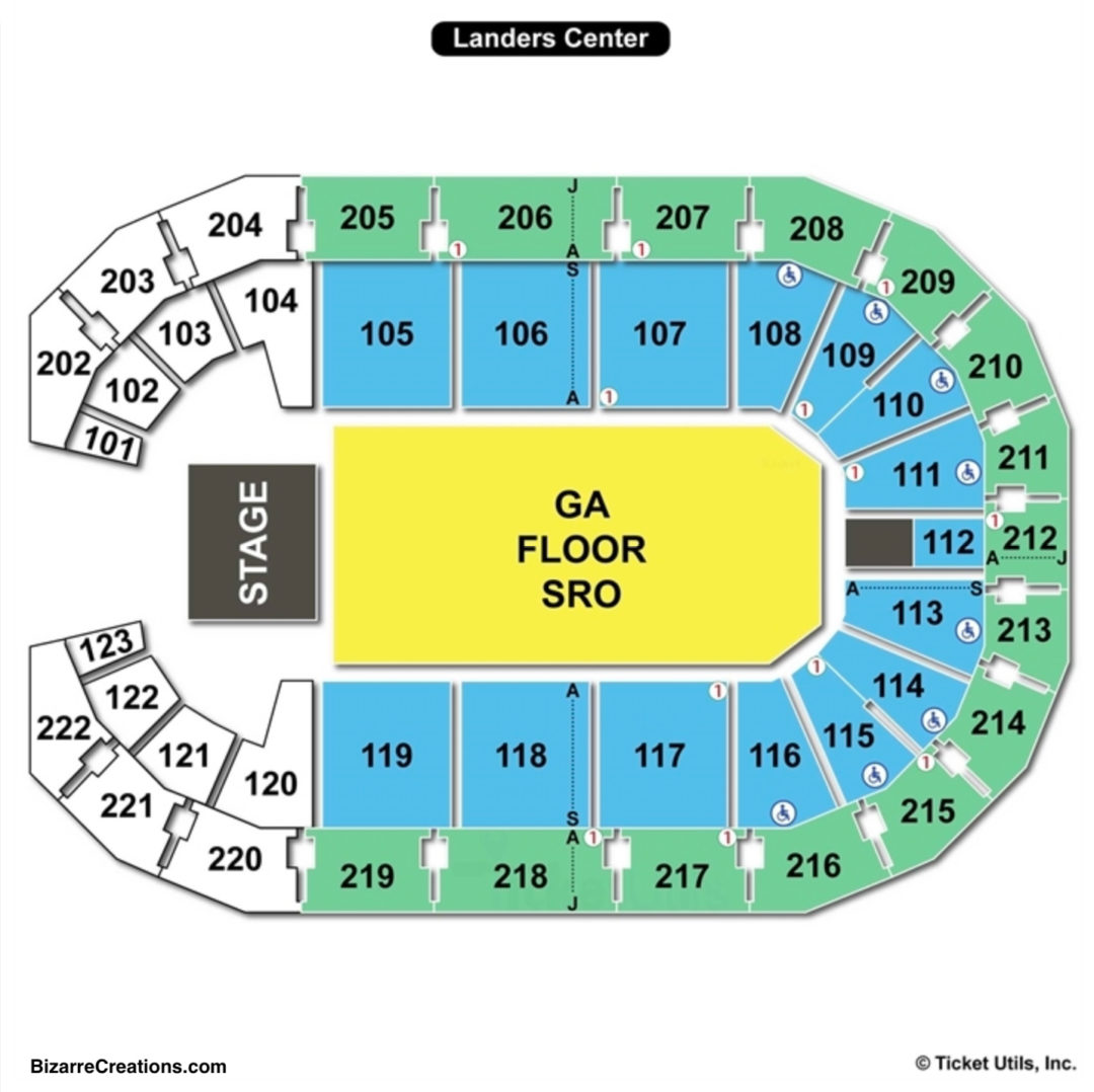 Landers Center Concert Seating Chart
