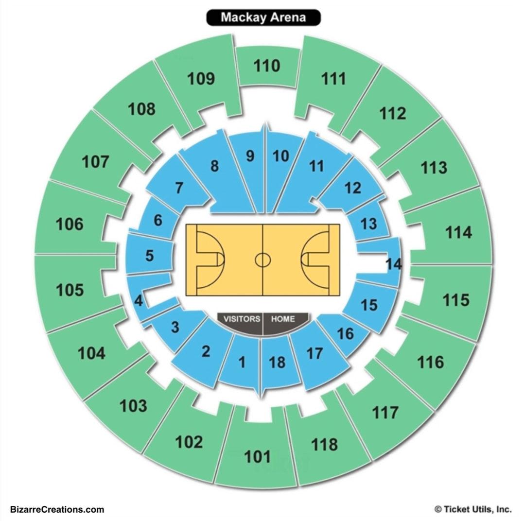 Mackey arena seating chart seating charts tickets