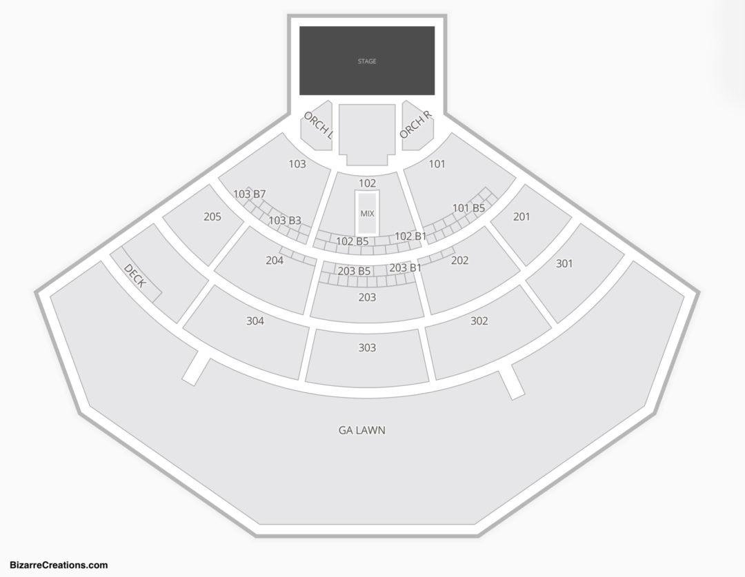 Mattress Firm Amphitheatre Seating Chart Concert
