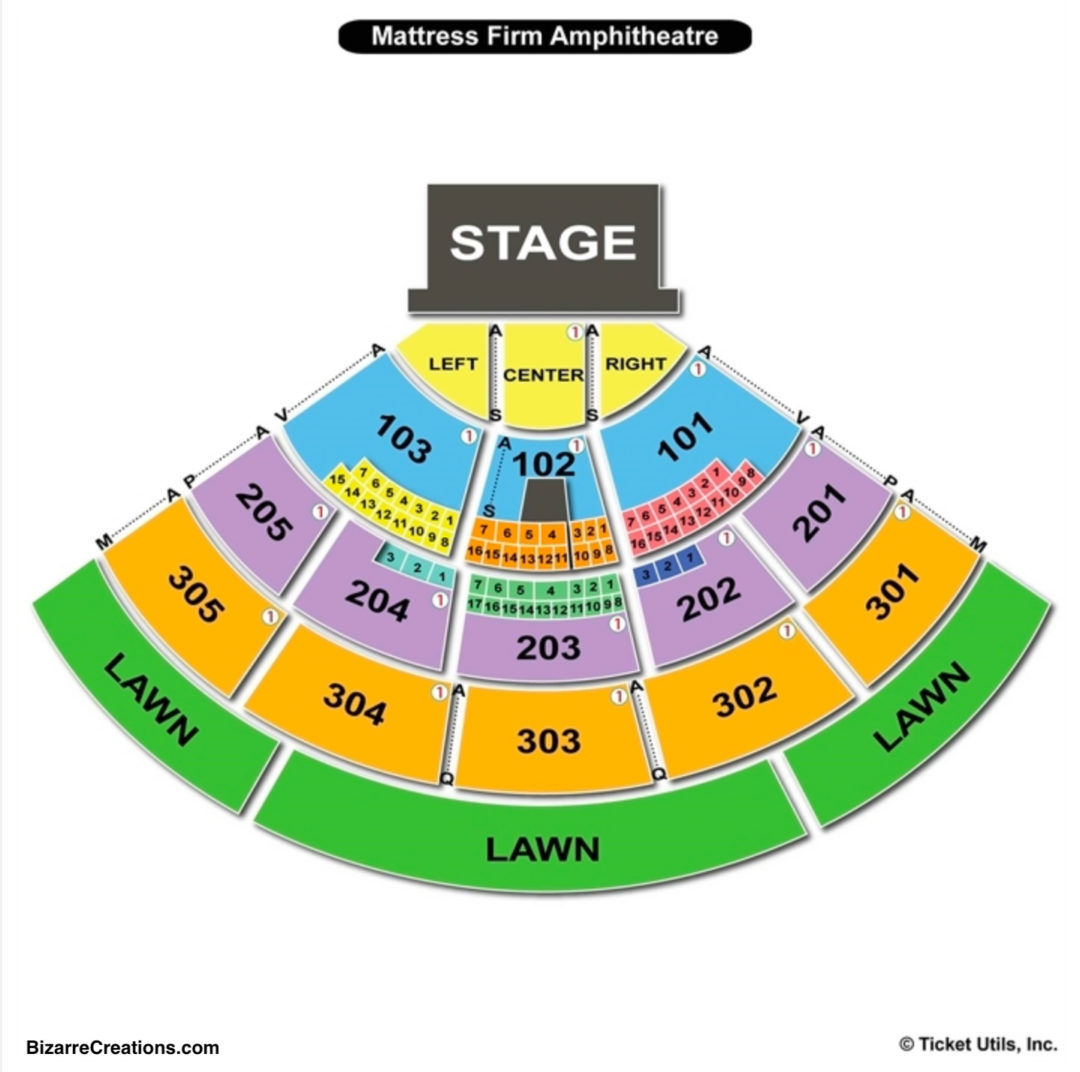 Mattress firm amphitheatre seating chart seating charts tickets