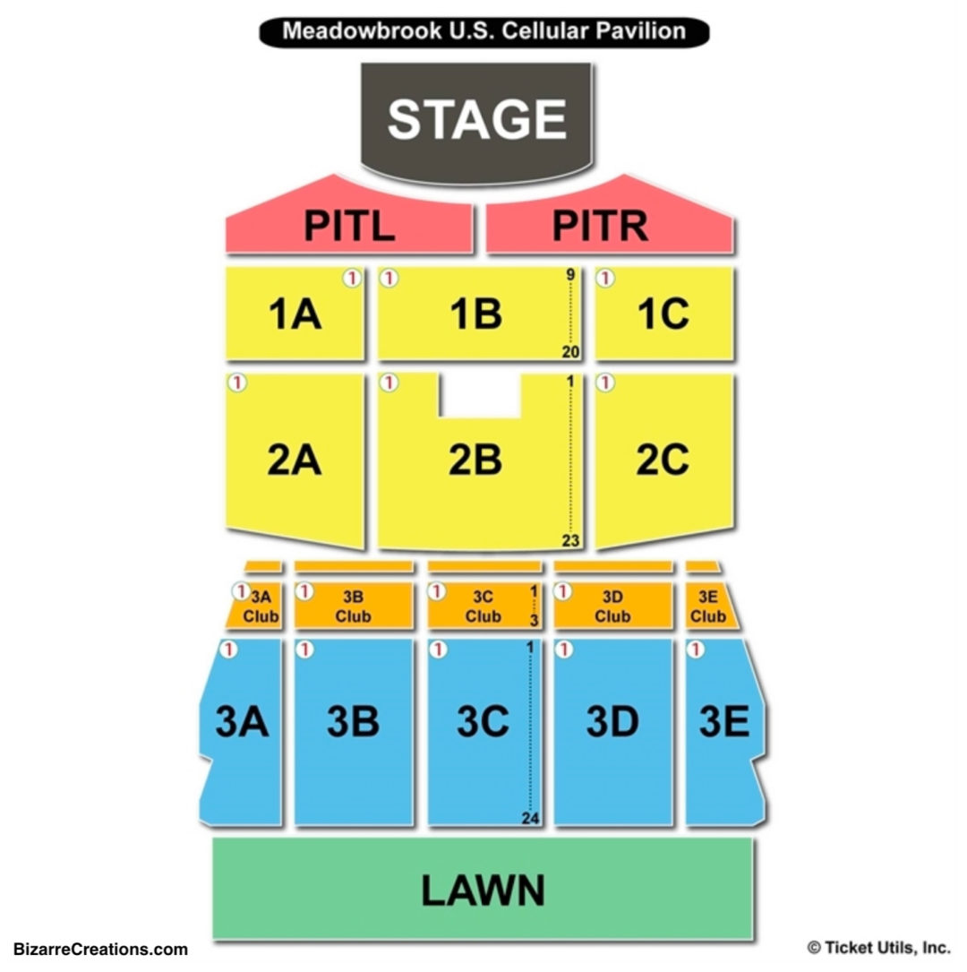 Meadowbrook Us Cellular Seating Chart Bank Of New Hampshire Pavilion