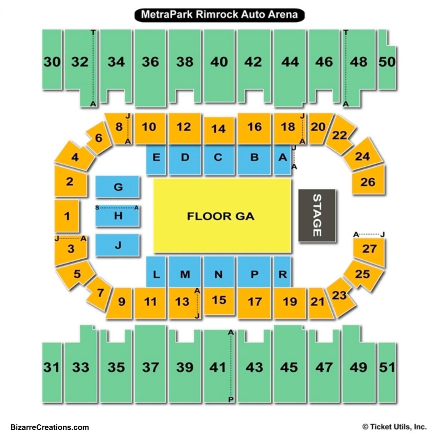 Metrapark Rimrock Auto Arena Seating Chart