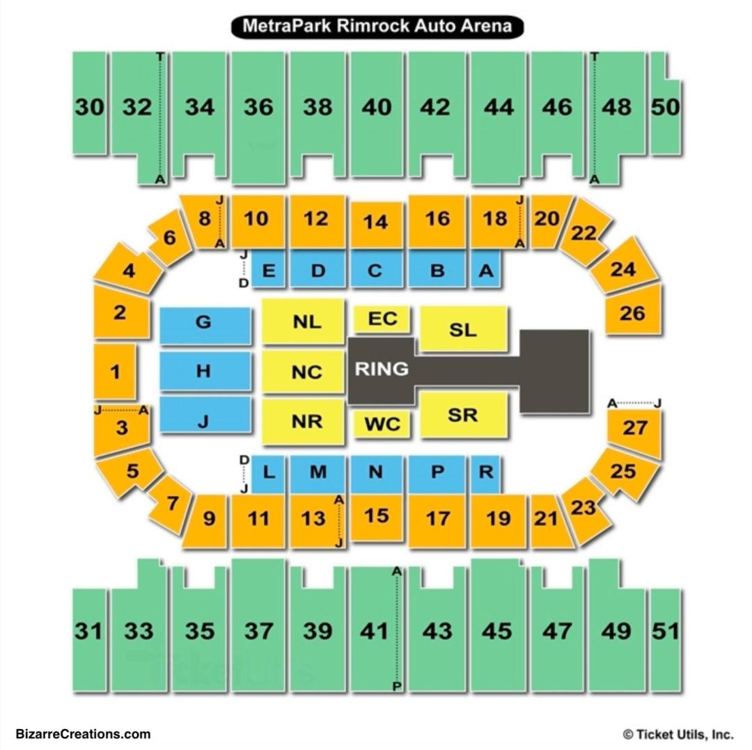 Metrapark Rimrock Auto Arena Wwe At Seating Chart