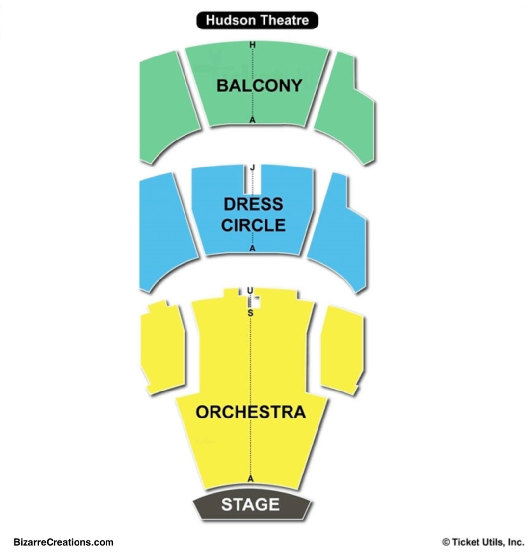 Hudson Theatre Seating Chart Seating Charts Tickets
