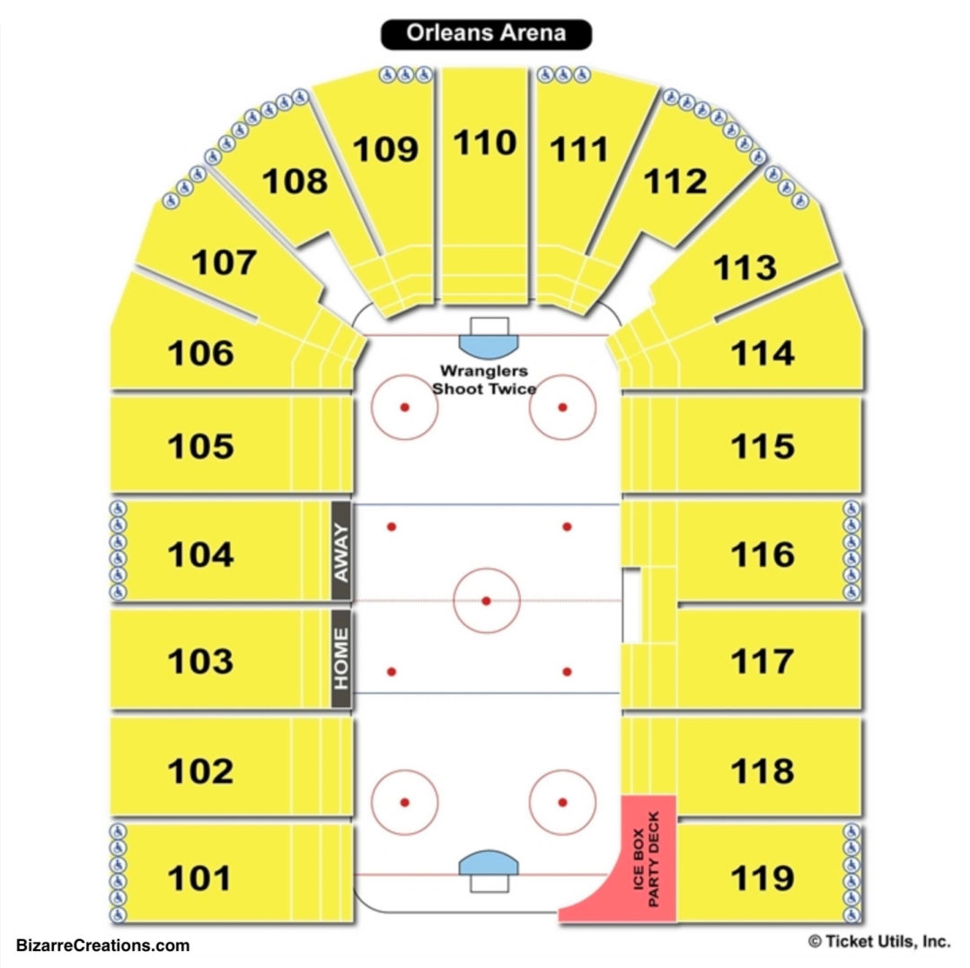 Orleans Arena Hockey Seating Chart