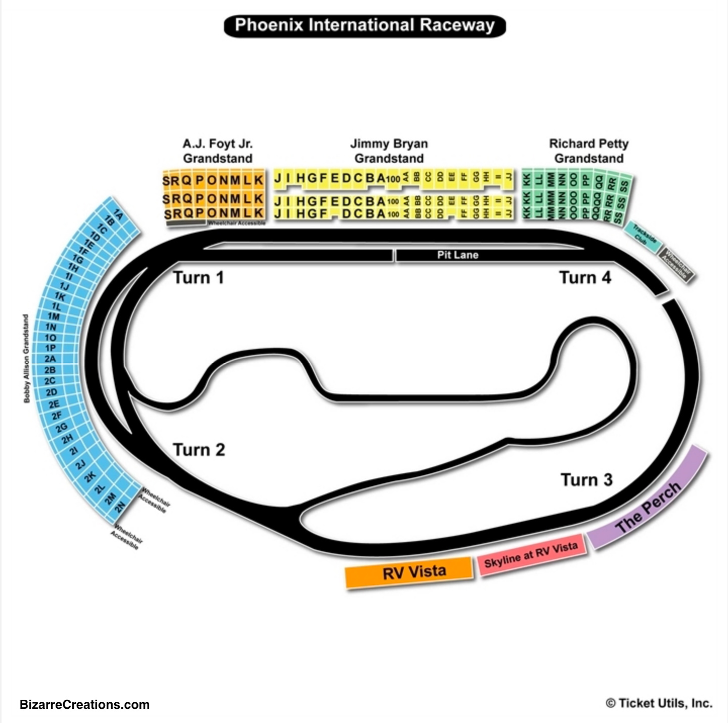 Phoenix international raceway seating chart seating charts tickets