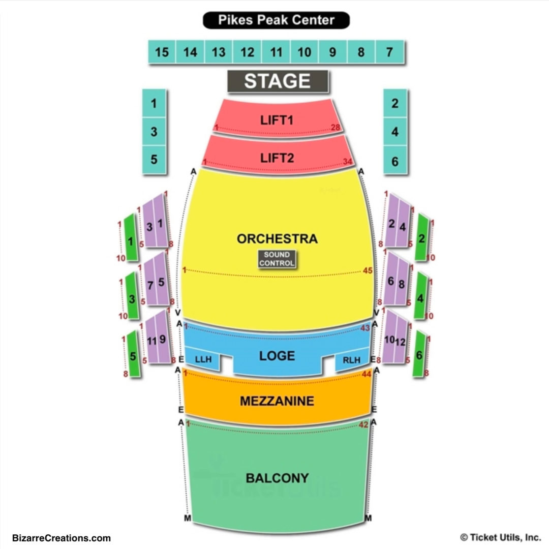 Pikes Peak Center Seating Chart Concert