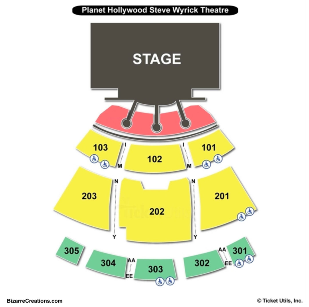 planet hollywood resort casino las vegas seating chart seating charts tickets. Black Bedroom Furniture Sets. Home Design Ideas