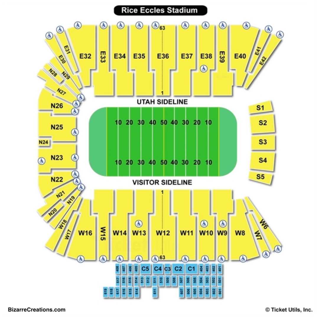Rice Eccles Stadium Seating Chart Seating Charts Tickets