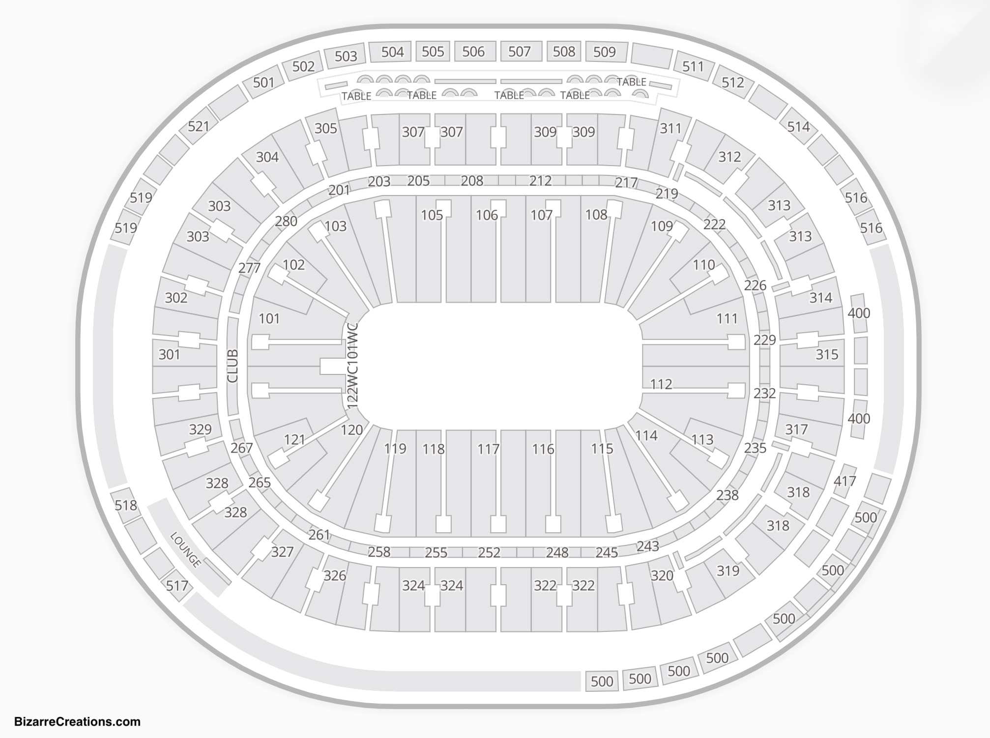 Rogers Arena Seating Chart Seating Charts Tickets