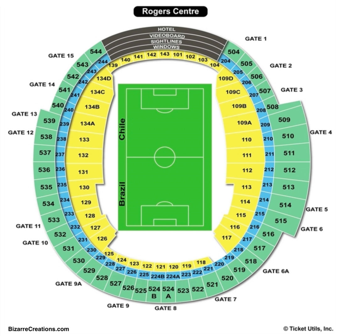 Rogers Centre Seating Chart Seating Charts Amp Tickets
