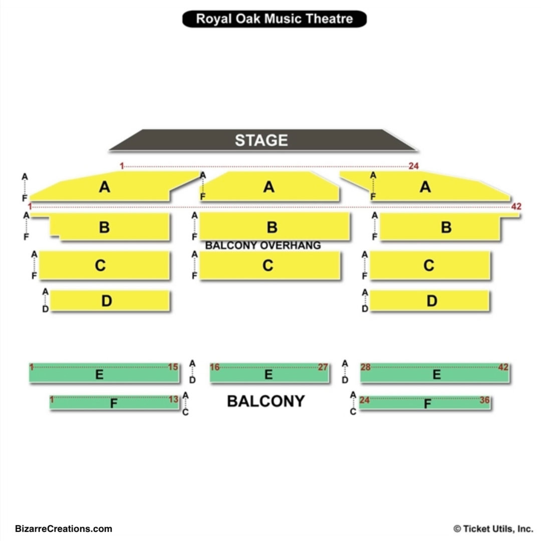 Royal oak music theatre seating chart seating charts tickets