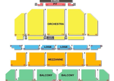Golden Gate Theatre Seating Chart Seating Charts Amp Tickets